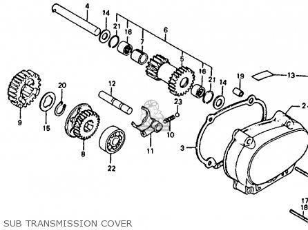Honda Atc110 1980 (a) Usa parts list partsmanual partsfiche
