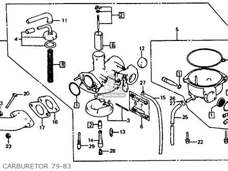 Honda Atc110 1980 Usa parts list partsmanual partsfiche