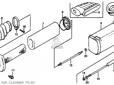 Honda ATC110 1981 (B) USA parts lists and schematics