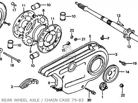 Honda Atc110 1981 (b) Usa parts list partsmanual partsfiche