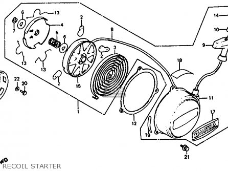 Honda Atc110 1981 (b) Usa parts list partsmanual partsfiche