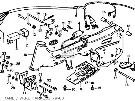 Honda Atc110 1981 Usa parts list partsmanual partsfiche