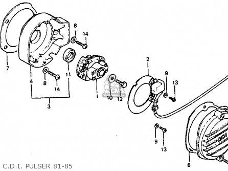 Honda Atc110 1982 Usa parts list partsmanual partsfiche