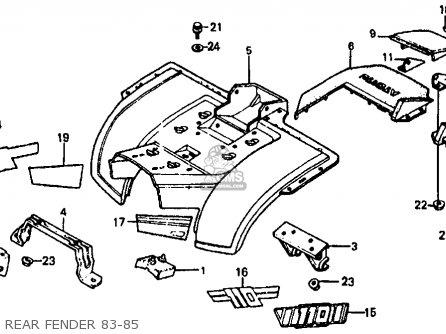 Honda ATC110 1984 (E) USA parts lists and schematics