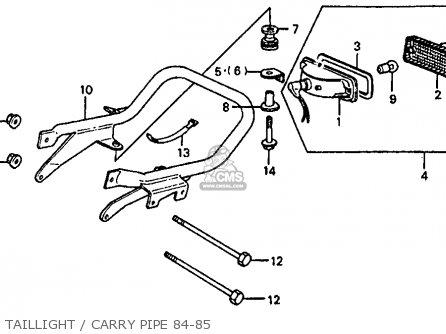 Honda Atc110 1984 (e) Usa parts list partsmanual partsfiche