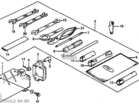 Honda Atc110 1984 (e) Usa parts list partsmanual partsfiche