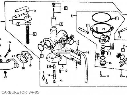 Honda Atc110 1985 Usa parts list partsmanual partsfiche