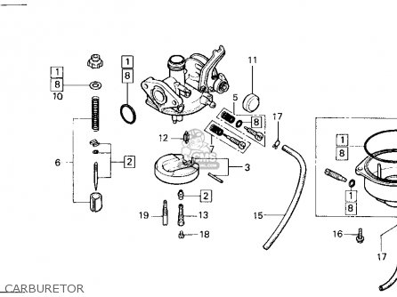 Honda Atc125m 1987 (h) Usa parts list partsmanual partsfiche