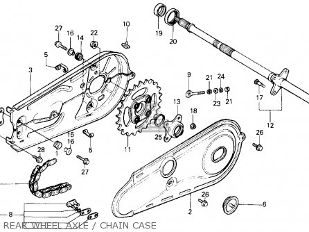 Honda Atc125m 1987 (h) Usa parts list partsmanual partsfiche