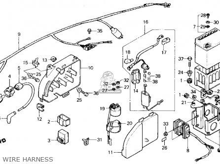 Honda ATC125M 1987 (H) USA parts lists and schematics