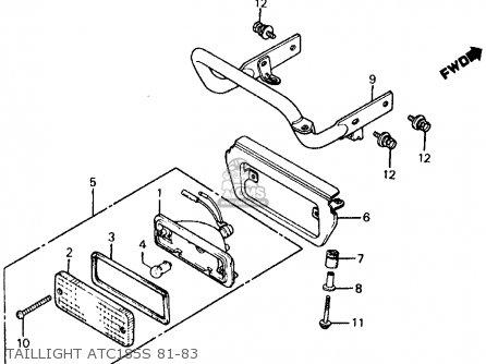 Honda ATC185S 1981 (B) USA parts lists and schematics