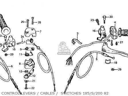 Honda Atc185s 1982 (c) Usa parts list partsmanual partsfiche