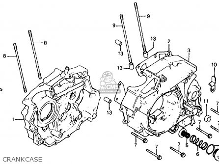 Honda Atc185s 1982 Usa parts list partsmanual partsfiche