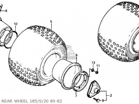 Honda Atc185s 1982 Usa parts list partsmanual partsfiche