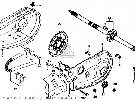 Honda ATC185S 1983 (D) USA parts lists and schematics