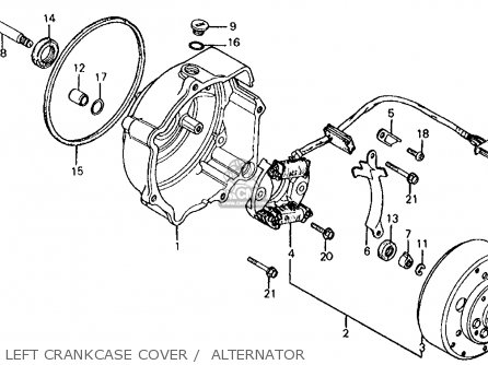Honda Atc185s 1983 Usa parts list partsmanual partsfiche