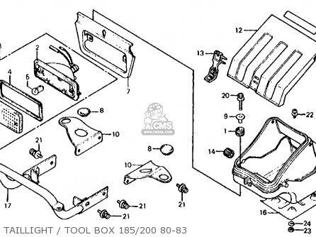 Honda Atc200 1980 (a) Usa parts list partsmanual partsfiche