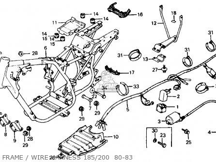 Honda Atc200 1981 (b) Usa parts list partsmanual partsfiche