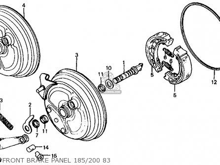 Honda Atc200 1983 (d) Usa parts list partsmanual partsfiche