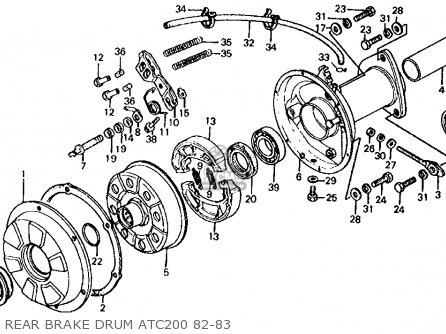 Honda Atc200 1983 Usa parts list partsmanual partsfiche