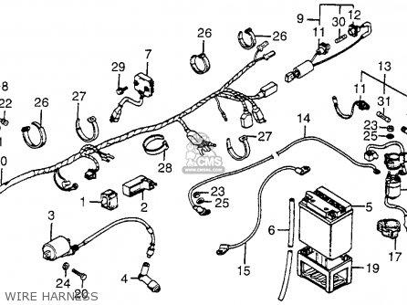 Honda ATC200E BIG RED1982 (C) USA parts lists and schematics