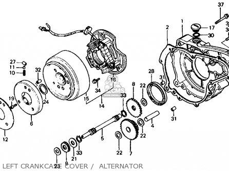 Honda Atc200es Big Red Usa parts list partsmanual partsfiche