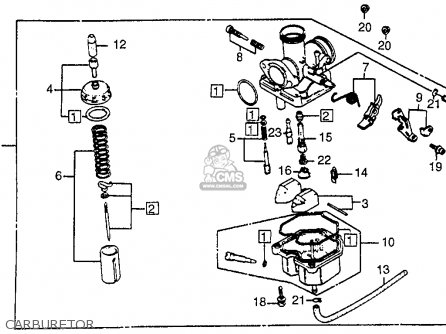 Honda ATC200M 1984 (E) USA parts lists and schematics