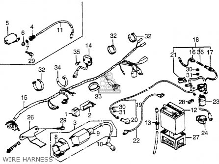 Honda Atc200m 1984 (e) Usa parts list partsmanual partsfiche