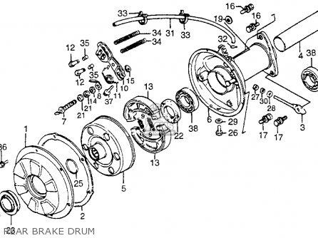 Honda Atc200m 1984 Usa parts list partsmanual partsfiche