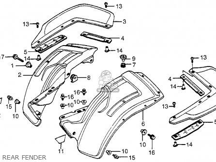 Honda Atc200m 1985 (f) Usa parts list partsmanual partsfiche