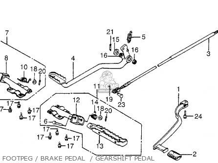 Honda Atc200s 1984 (e) Usa parts list partsmanual partsfiche