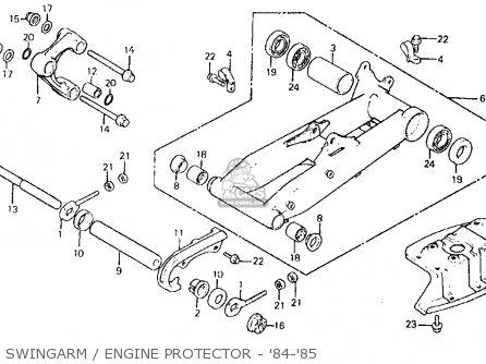Honda Atc200x 1985 (f) Usa parts list partsmanual partsfiche