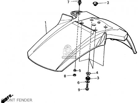 Honda ATC200X 1986 (G) USA parts lists and schematics