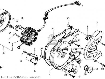 Honda Atc200x 1986 (g) Usa parts list partsmanual partsfiche