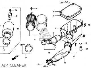 Honda Atc200x 1987 (h) Usa parts list partsmanual partsfiche