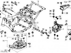 Honda Atv Parts 1985 Atc125m A Right Crankcase Cover