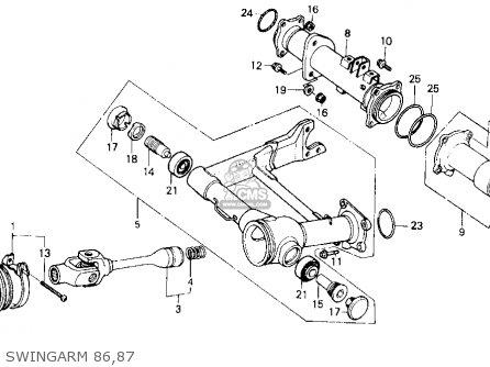 Honda ATC250ES 1986 (G) USA parts lists and schematics