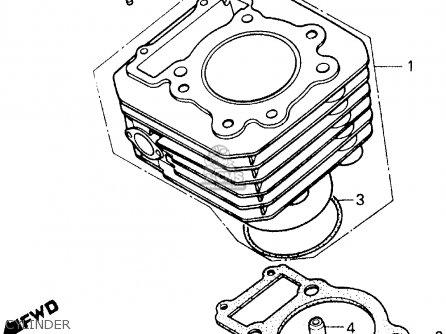 Honda Atc250es 1987 (h) Usa parts list partsmanual partsfiche