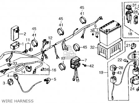 Honda Atc250es 1987 Usa parts list partsmanual partsfiche