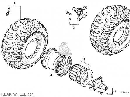 Honda Atc250es Big Red 1985 (f) Canada parts list