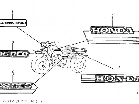 Honda Atc250es Big Red 1985 parts list partsmanual partsfiche