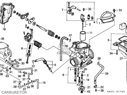 Honda Atc250es Big Red 1986 parts list partsmanual partsfiche