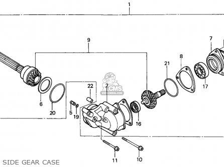 Honda ATC250ES BIG RED 1987 (H) AUSTRALIA parts lists and