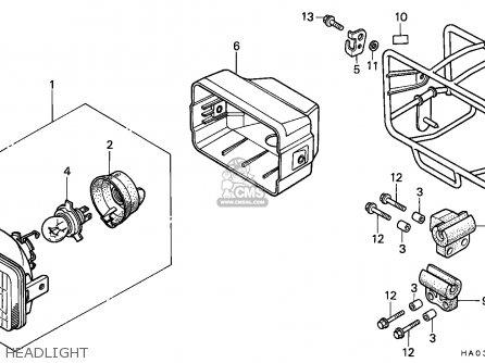 Honda ATC250ES BIG RED 1987 (H) ENGLAND parts lists and