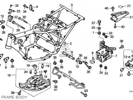 Honda Atc250es Big Red 1988 (j) Canada parts list