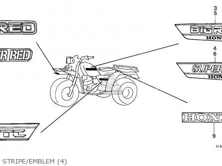 Honda Atc250es Big Red 1988 (j) England parts list