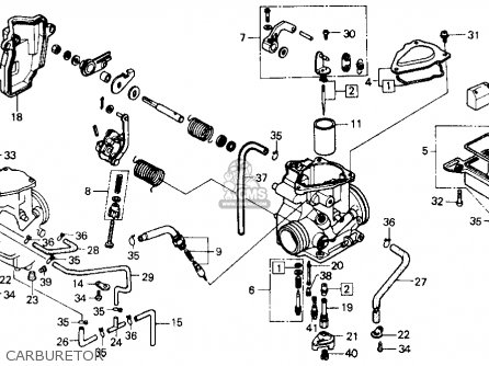 Honda ATC250ES BIG RED1985 (F) USA parts lists and schematics