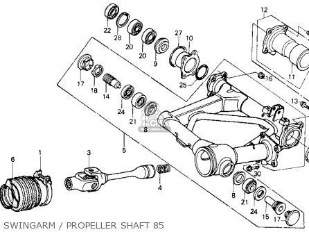 Honda Atc250es Big Red1985 (f) Usa parts list partsmanual