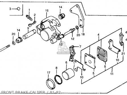 Honda Atc250r 1981 (b) Usa parts list partsmanual partsfiche