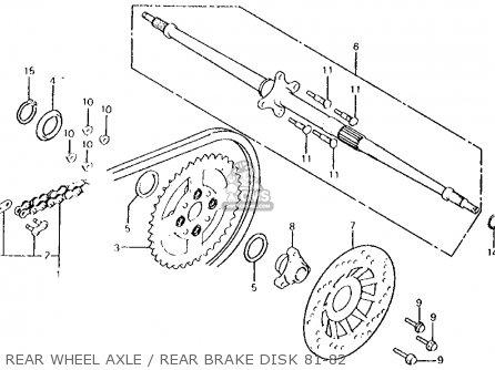 Honda ATC250R 1981 (B) USA parts lists and schematics